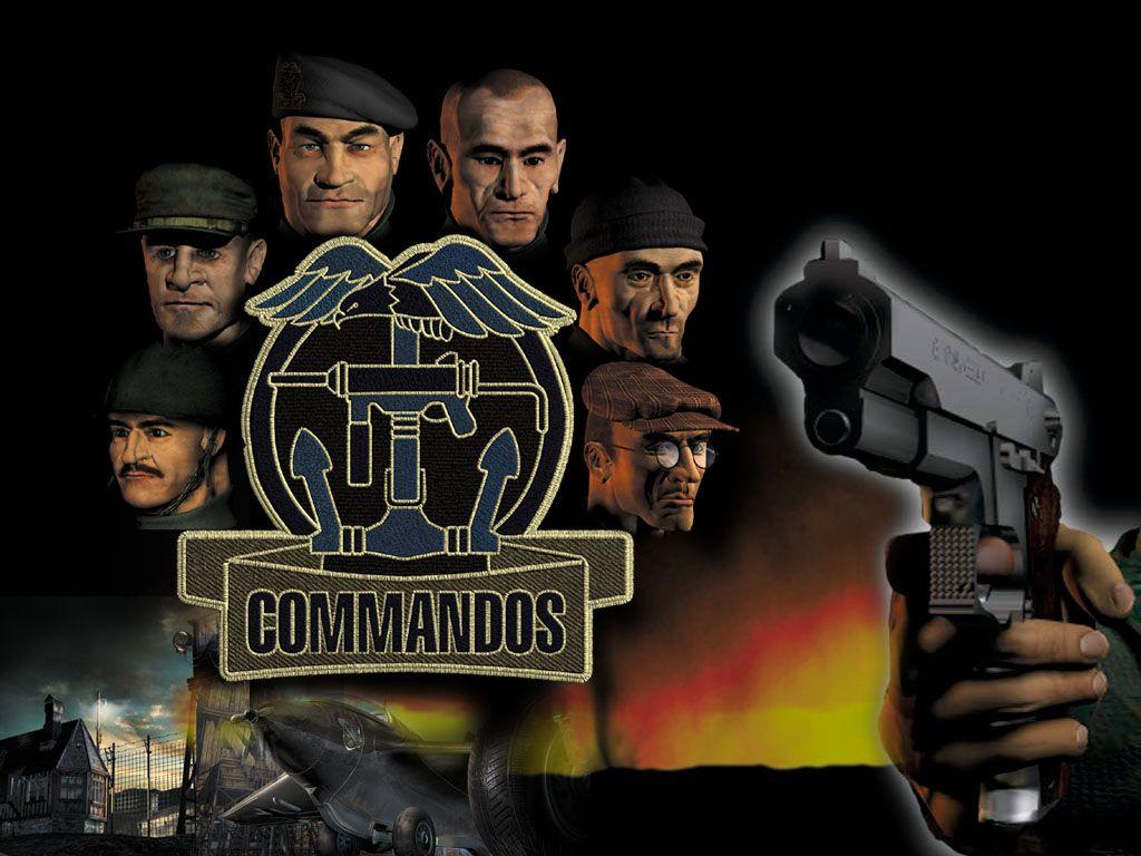 Commandos Team Logo And Gun